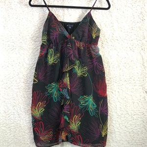 GAP party dress rainbow floral neon Small